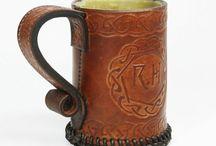 leather mug