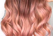 Rose gold & blorange hair