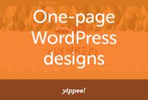 One page WordPress designs