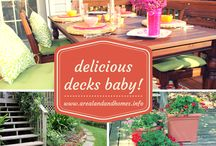 Delicious Decks & Outdoor Entertaining Baby! / All about decorating your deck and entertaining!  Like my board then Visit http://www.arealandandhomes.info for more great ideas.