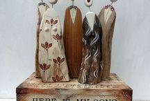 Wooden choir figure