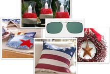 4th of July decor / Get festive this 4th of July. Ideas for home decor. And for outdoors....great ideas for sun-protection by Solar Shield.