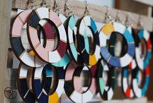 ZIRO / Handmade wooden earrings by PITHY  https://www.facebook.com/pithylab