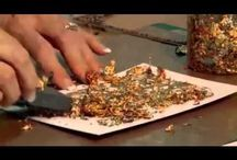 Gilding Flakes / Ideas, tutorials and inspiration for using gilding flakes,,love them!