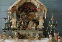 Miniaturen kerst vintage