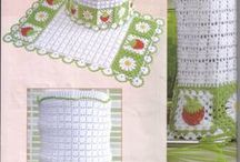 Jogos de cozinha  em crochet