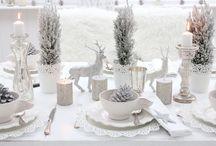 White & Silver Tablescape