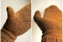 варежки, перчатки и митенки