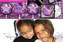 Rock star / Rock star themed birthday party ideas and cakes.