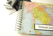 Vintage Page Travel Journals / Travel journals created with vintage maps
