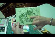 вышивка машинная - открытки