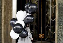 globos con niño pequeño