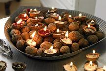Bougies coque de noix