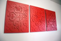 """Wall Decor """"Elepix"""" / Add geometrical aesthetics to your space with this three piece wall decor item."""