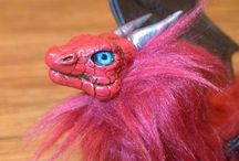 Creature Art Dolls / posable art dolls of dragons, gryphons & more