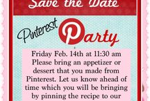 Pinterest Party!! / Please bring an appetizer or dessert. Let us know which by pinning it to this board. Thanks! / by Bianca Gog