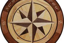 Eroica Hardwood Floor Medallion Inlay / Eroica Hardwood Floor Medallion Inlay in a Compass Rose Style