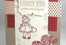 Greeting Card Kids-Retired / Made with Stampin' Up! Greeting Card Kids stamp set.