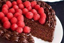 frambuazlı çikolatalı pasta