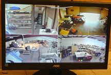 Security Camera Installation - Warehouse / Here is a security camera installation we did at a vacation rental companies warehouse