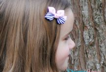 Hair bows-Dainty bows / Pretty, simple, quality handmade girls accessories