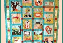 """2015 HRI Rescue Quilt Project & Drawing / The 2015 Havanese Rescue Quilt Project quilt is called """"These Are A Few Of My Favorite Things"""" and the 2015 Havanese Quilters 10th Anniversary quilt is called """"Star of the Show"""""""