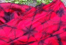 Shibori and dye, silk and wool/felt
