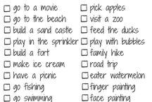 Yazın yapılacaklar listesi