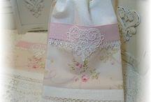 Shabby chic tea towels