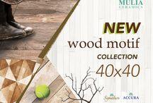 "Mulia Ceramics ""New collection"" wood series"