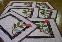 spring quilt and applique