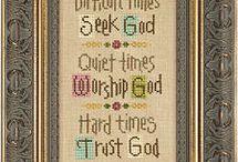 Cross stitch / God relationships