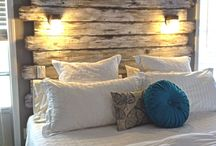Headboard Inspiration / A headboard on your bed can really make your room. It can add style and a theme to your space.