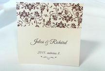 Egyedi grafikával készült esküvői meghívók / Egyedi grafikával készült esküvői meghívók