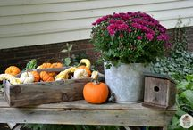 outdoor fall decoration
