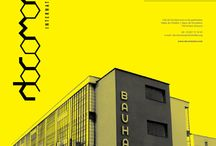 Bauhaus / Diverse bauhaus inspired/original bauhaus grandmasters works, ranges from graphic design to architecture