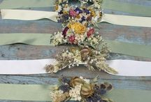 Wrist Corsages / Dried Flower Wrist Corsages for Weddings