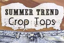 Crop Tops / Summer Trend: Crop Tops // http://www.missesdressy.com/blog/summer-fashion-trend-the-floral-crop-top.html