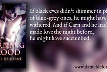Burning Blood - Cover and Quotes / Gay paranormal/vampire/witch romance book - cover and quotes