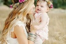 съёмка  мамы и дочки