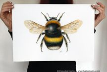 Bumblebee art for office