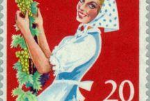 Stamps with the theme wine- wine-stamps from Germany  / Postzegels met het thema wijn- uit Duitsland / Many wine countries have stamps about wine, grape varieties etc./Vele wijnlanden hebben postzegels over wijn, druivensoorten etc.