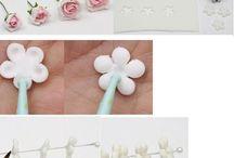 Rose gum paste