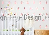 Geometrical Wall Decals - Vinyl Design / Geometric wall décor to transform a boring blank wall into a stunning feature wall. Our pattern wall decals look like wallpaper but are so much easier to apply and to remove!  #geometrica #walldecal #vinyldesign #decor
