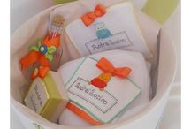 Baptism boxes, candles and accessories