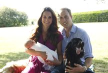 Prince William, Kate, George and Charlotte Elizabeth Diana /  Pictures Of Prince William, Kate and George.  / by Robin M.