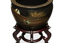 Chinese Fishbowls and Planters / Chinese style fishbowls and planters are known to feature a wide variety of artwork and hand painted designs. This is a collection of some of our favorites!