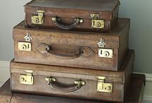 Old suitcases, trunks,boxes and baskets