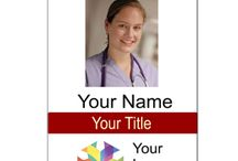 Badges / Perfect for hospitals, schools, larges offices and more!