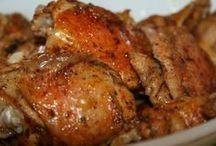 sült ketcupos csirkecomb